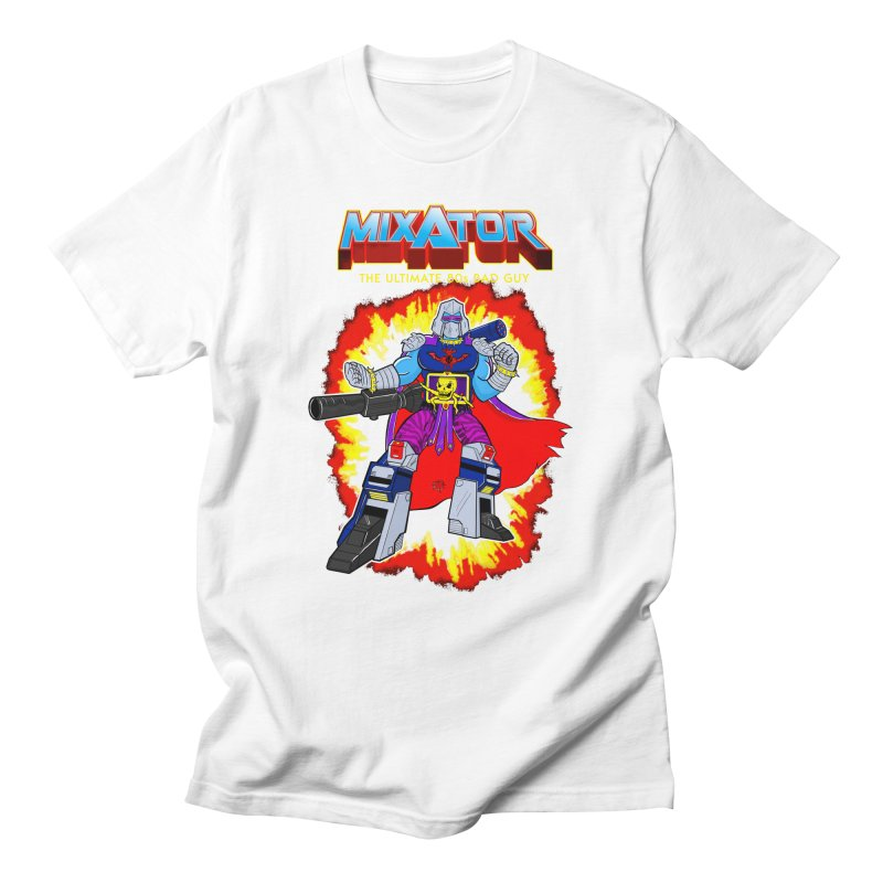 Mixator - The Ultimate 80s Bad Guy Men's Regular T-Shirt by John D-C's Artist Shop