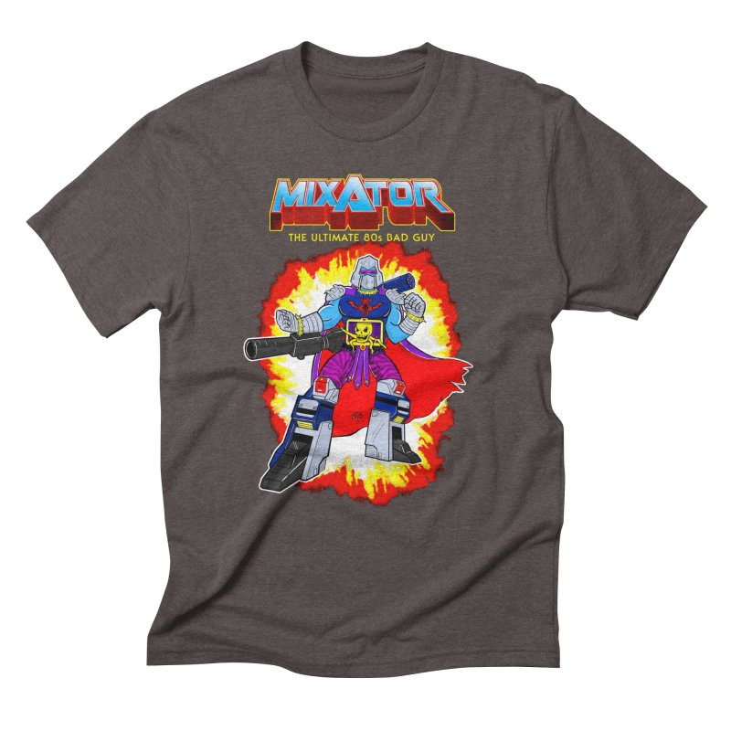 Mixator - The Ultimate 80s Bad Guy in Men's Triblend T-Shirt Tri-Coffee by John D-C's Artist Shop