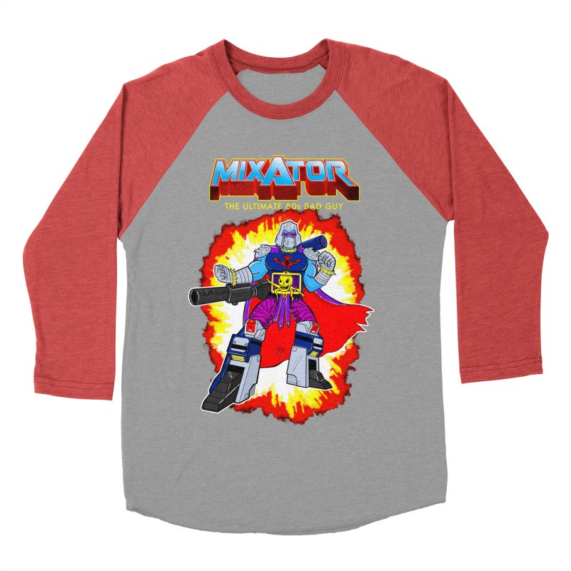 Mixator - The Ultimate 80s Bad Guy Women's Baseball Triblend T-Shirt by John D-C's Artist Shop