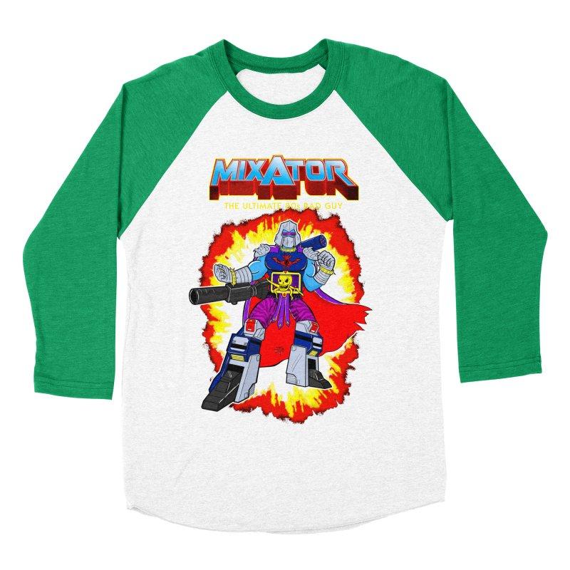 Mixator - The Ultimate 80s Bad Guy Men's Baseball Triblend Longsleeve T-Shirt by John D-C's Artist Shop