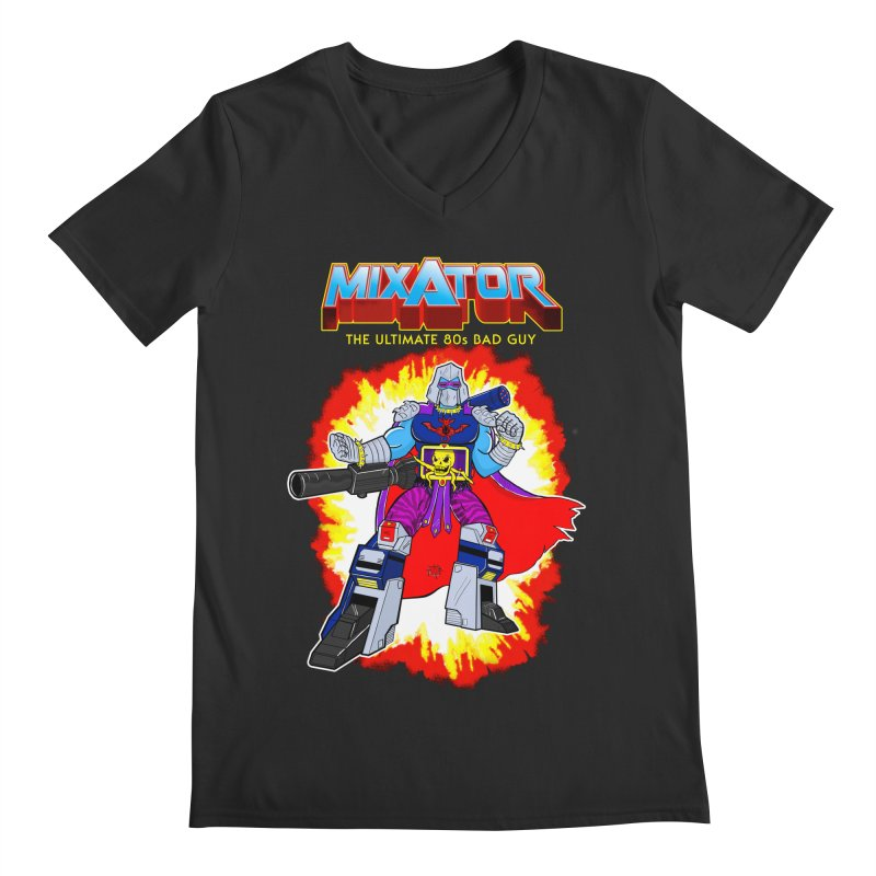 Mixator - The Ultimate 80s Bad Guy Men's Regular V-Neck by John D-C's Artist Shop