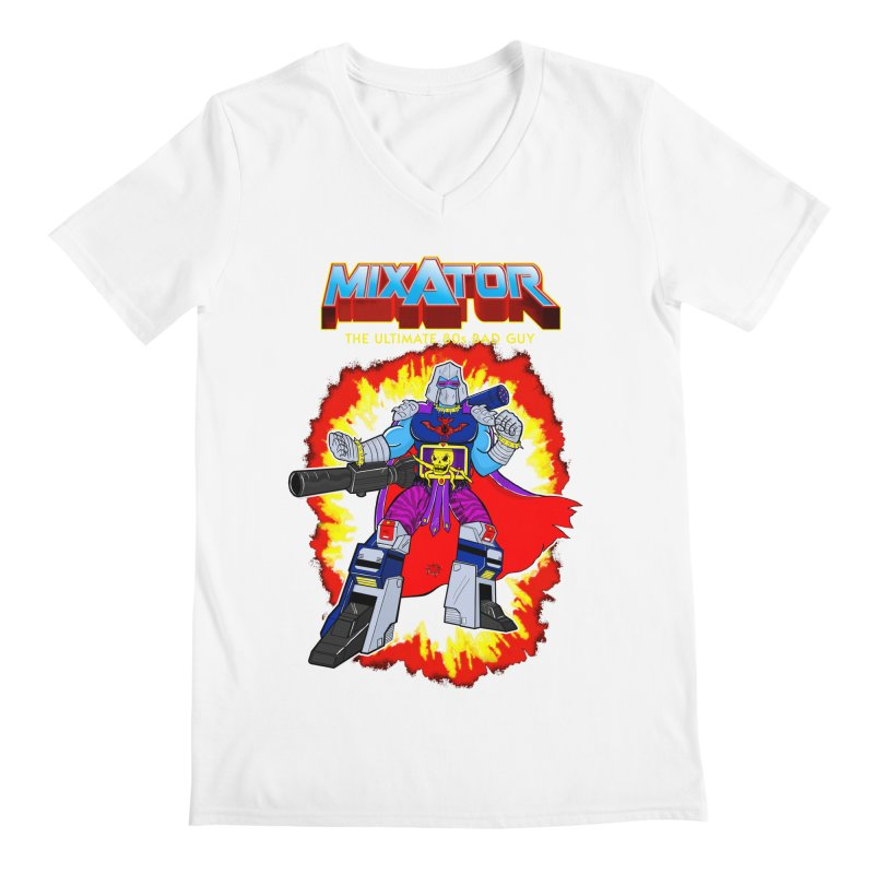 Mixator - The Ultimate 80s Bad Guy Men's V-Neck by John D-C's Artist Shop