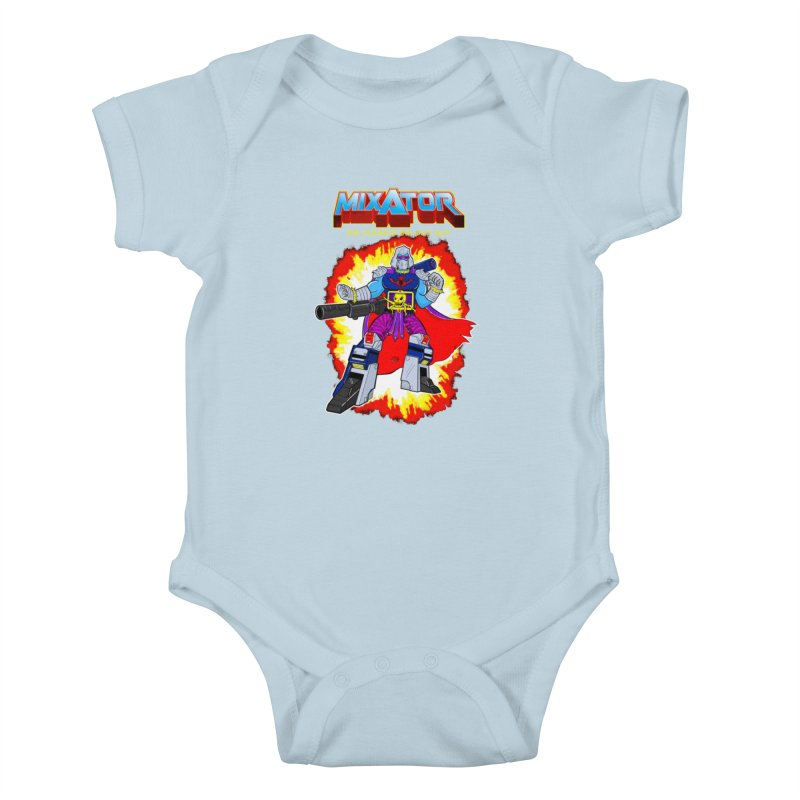 Mixator - The Ultimate 80s Bad Guy Kids Baby Bodysuit by John D-C