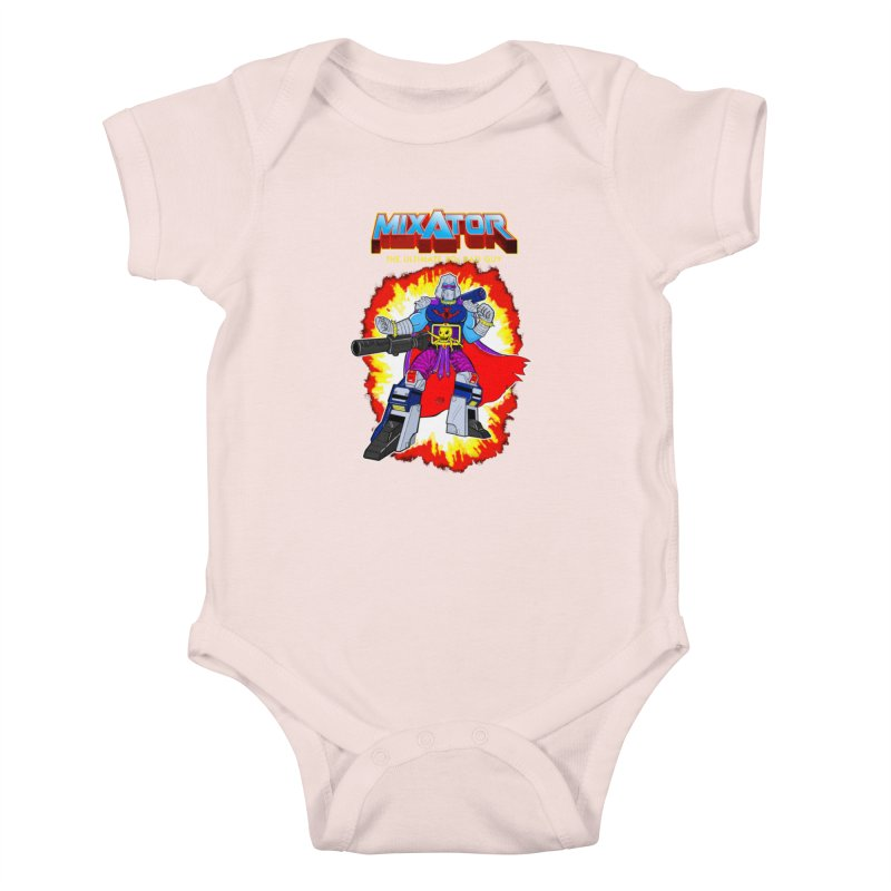 Mixator - The Ultimate 80s Bad Guy Kids Baby Bodysuit by John D-C's Artist Shop