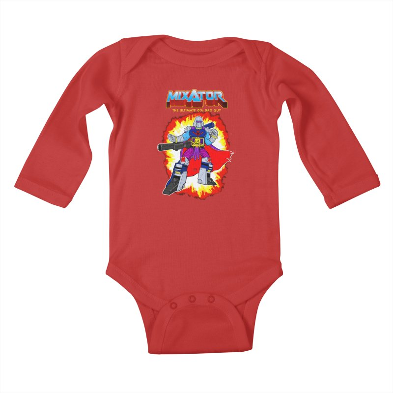 Mixator - The Ultimate 80s Bad Guy Kids Baby Longsleeve Bodysuit by John D-C