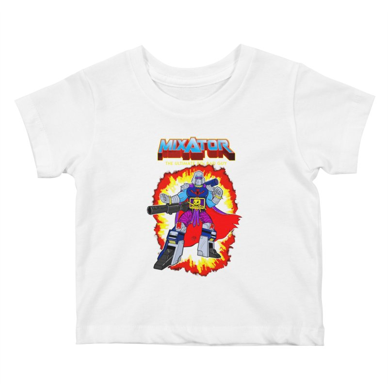 Mixator - The Ultimate 80s Bad Guy Kids Baby T-Shirt by John D-C's Artist Shop