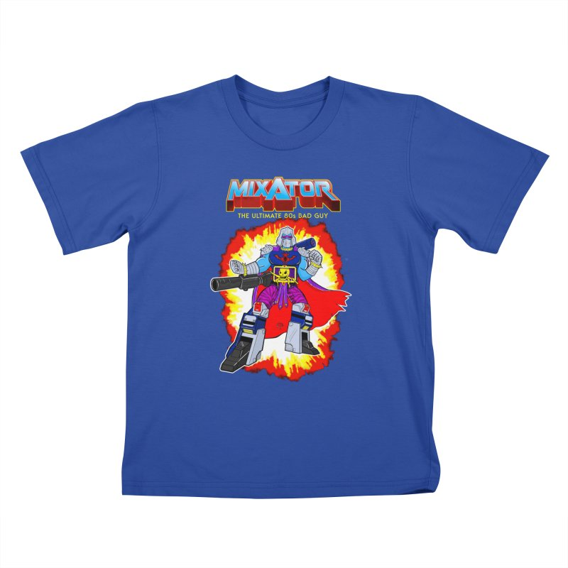 Mixator - The Ultimate 80s Bad Guy Kids T-Shirt by John D-C's Artist Shop