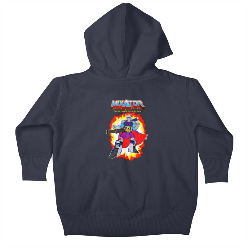 Mixator - The Ultimate 80s Bad Guy Kids Baby Zip-Up Hoody by John D-C's Artist Shop