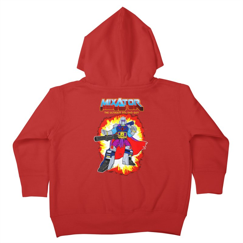Mixator - The Ultimate 80s Bad Guy Kids Toddler Zip-Up Hoody by John D-C's Artist Shop