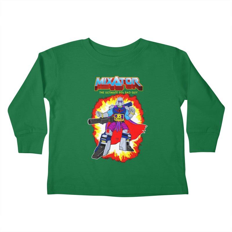 Mixator - The Ultimate 80s Bad Guy Kids Toddler Longsleeve T-Shirt by John D-C's Artist Shop