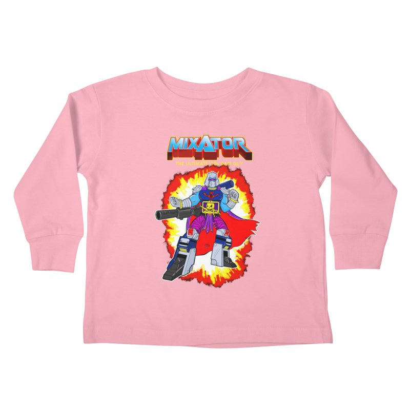 Mixator - The Ultimate 80s Bad Guy Kids Toddler Longsleeve T-Shirt by John D-C's Artist Shop
