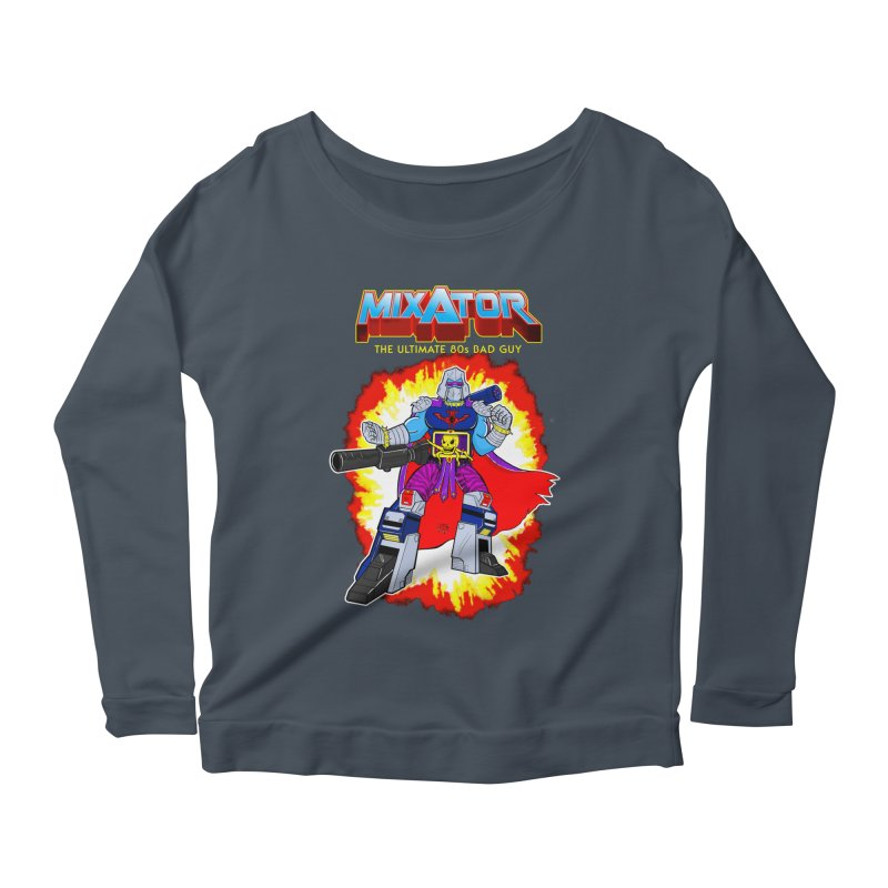 Mixator - The Ultimate 80s Bad Guy Women's Scoop Neck Longsleeve T-Shirt by John D-C's Artist Shop
