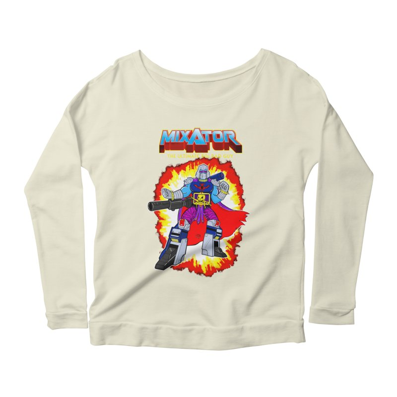 Mixator - The Ultimate 80s Bad Guy Women's Scoop Neck Longsleeve T-Shirt by John D-C
