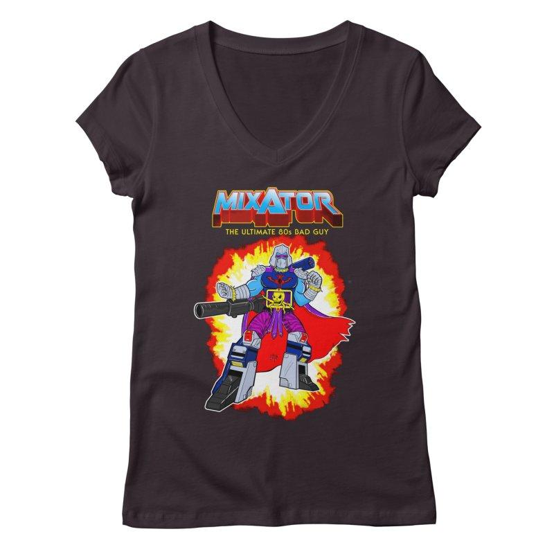 Mixator - The Ultimate 80s Bad Guy Women's Regular V-Neck by John D-C