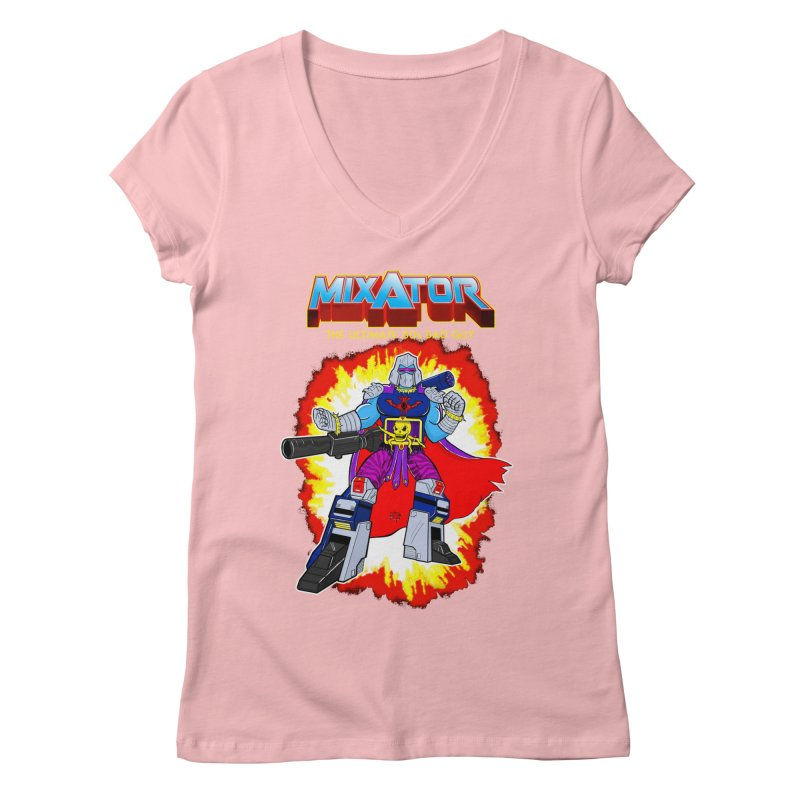 Mixator - The Ultimate 80s Bad Guy Women's V-Neck by John D-C's Artist Shop