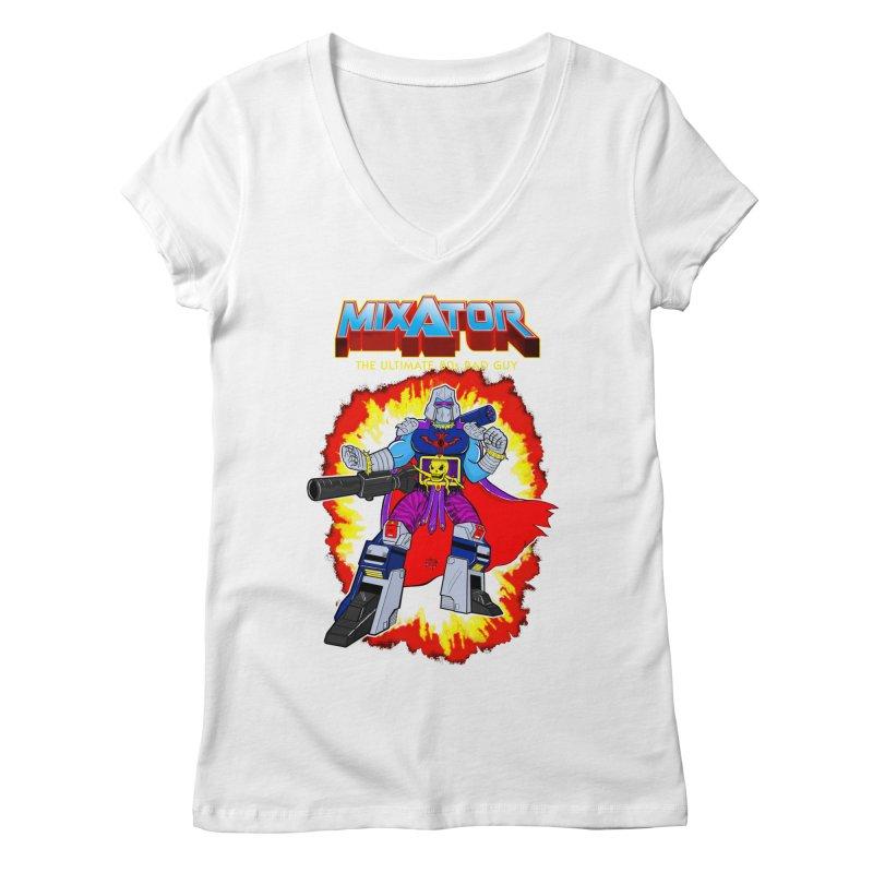 Mixator - The Ultimate 80s Bad Guy Women's V-Neck by John D-C's Artist Shop