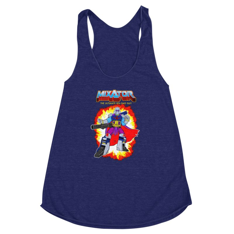 Mixator - The Ultimate 80s Bad Guy Women's Racerback Triblend Tank by John D-C's Artist Shop
