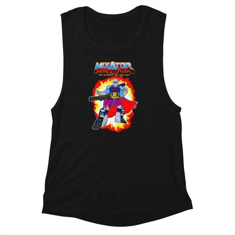 Mixator - The Ultimate 80s Bad Guy Women's Muscle Tank by John D-C's Artist Shop