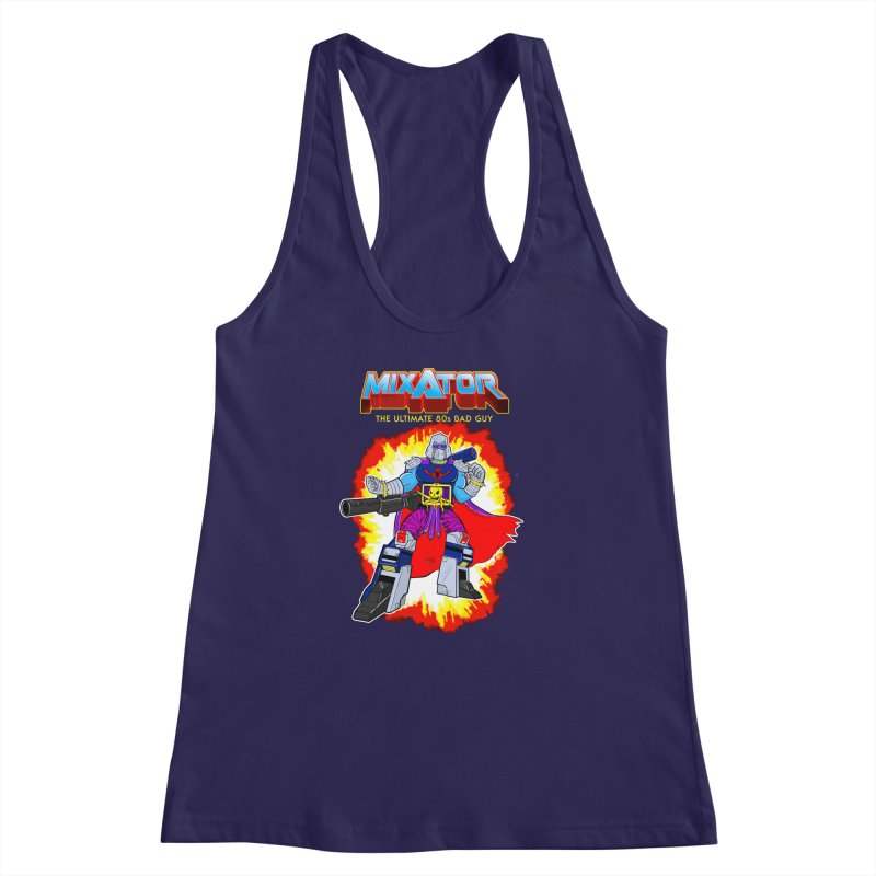 Mixator - The Ultimate 80s Bad Guy Women's Racerback Tank by John D-C's Artist Shop