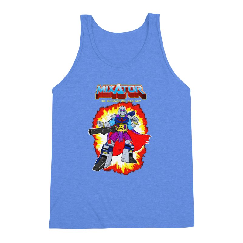 Mixator - The Ultimate 80s Bad Guy Men's Triblend Tank by John D-C's Artist Shop