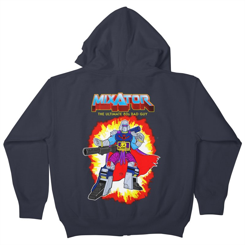 Mixator - The Ultimate 80s Bad Guy Kids Zip-Up Hoody by John D-C's Artist Shop