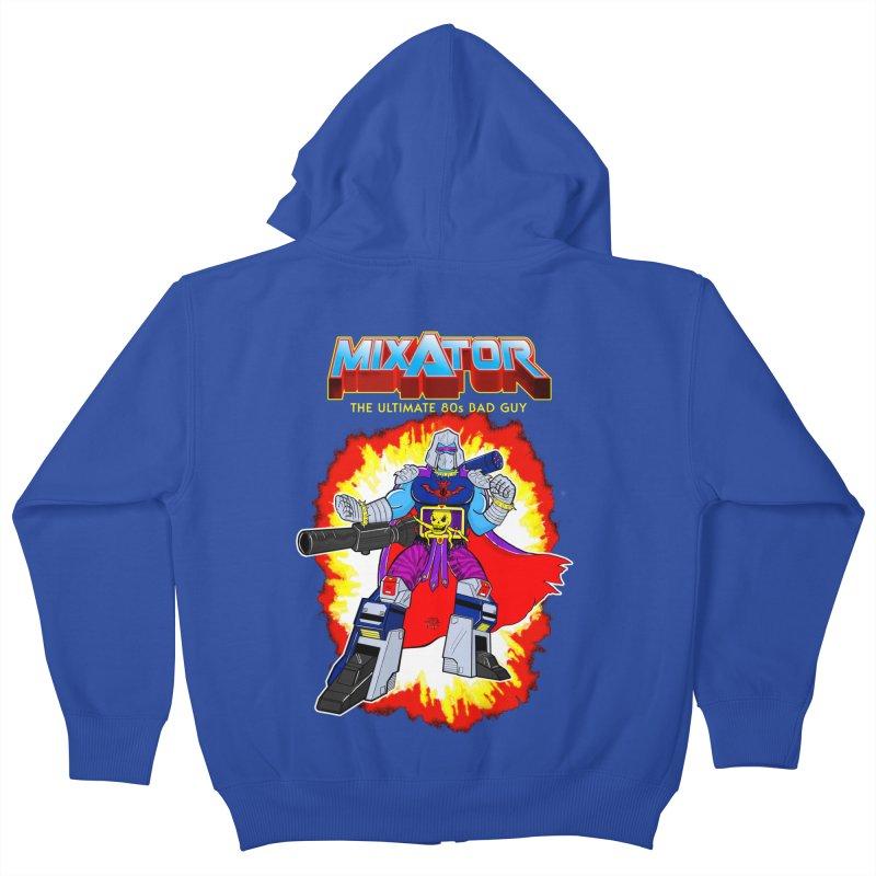 Mixator - The Ultimate 80s Bad Guy Kids Zip-Up Hoody by John D-C's Artist Shop