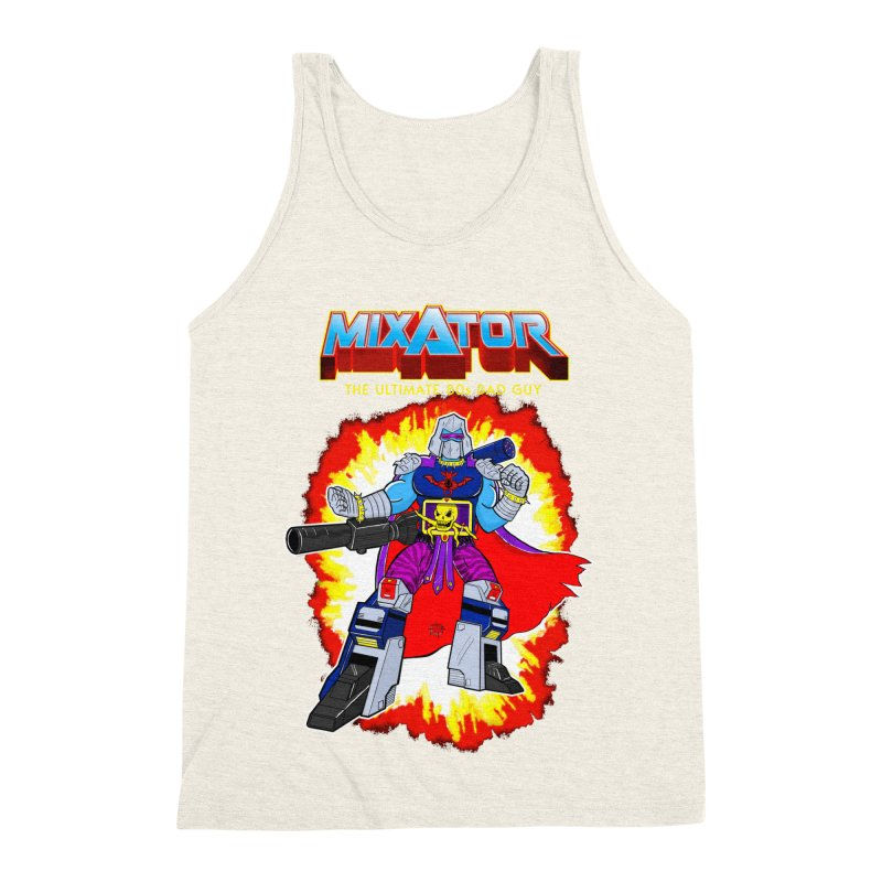Mixator - The Ultimate 80s Bad Guy Men's Triblend Tank by John D-C