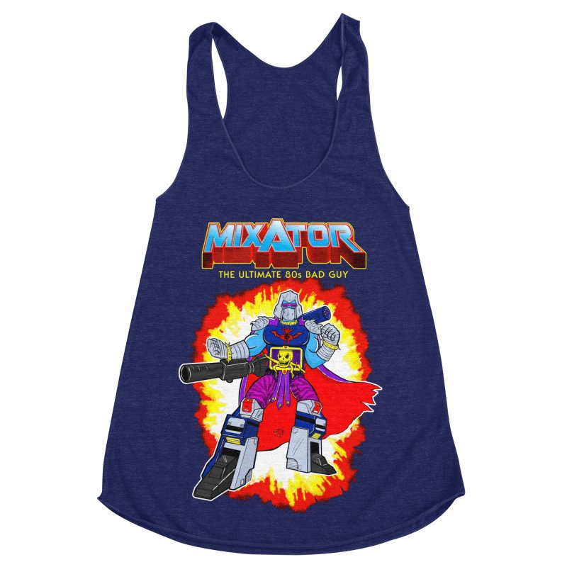Mixator - The Ultimate 80s Bad Guy Women's Racerback Triblend Tank by John D-C