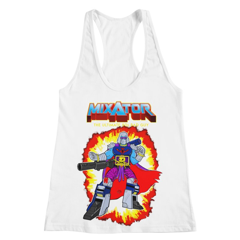 Mixator - The Ultimate 80s Bad Guy Women's Racerback Tank by John D-C