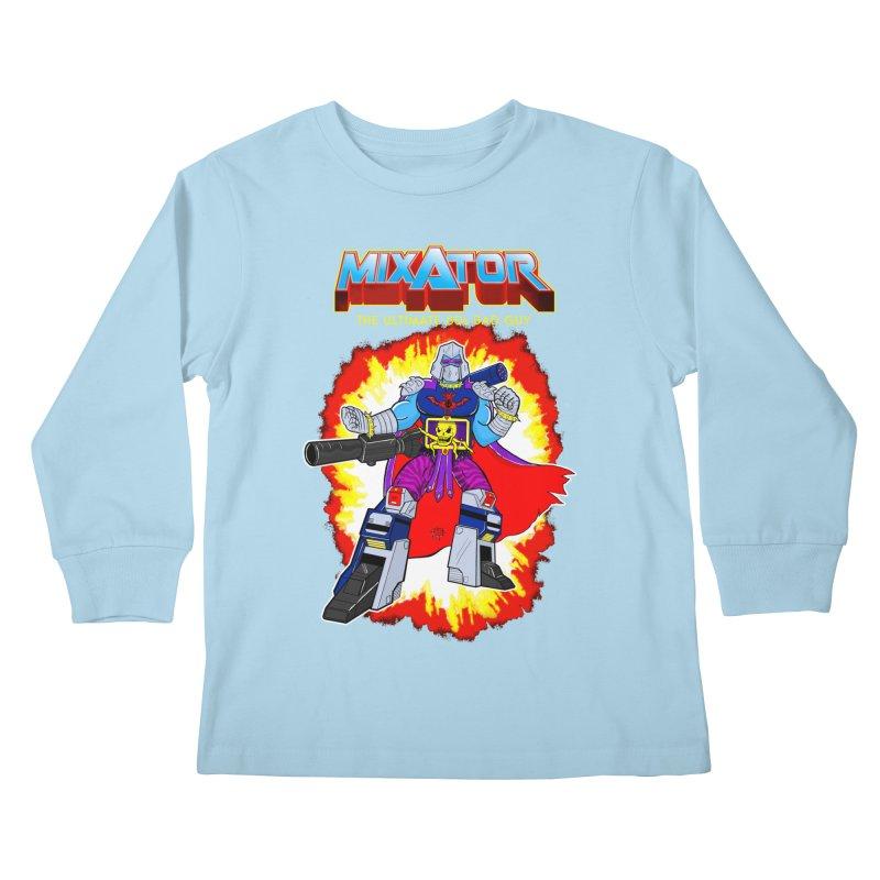 Mixator - The Ultimate 80s Bad Guy Kids Longsleeve T-Shirt by John D-C