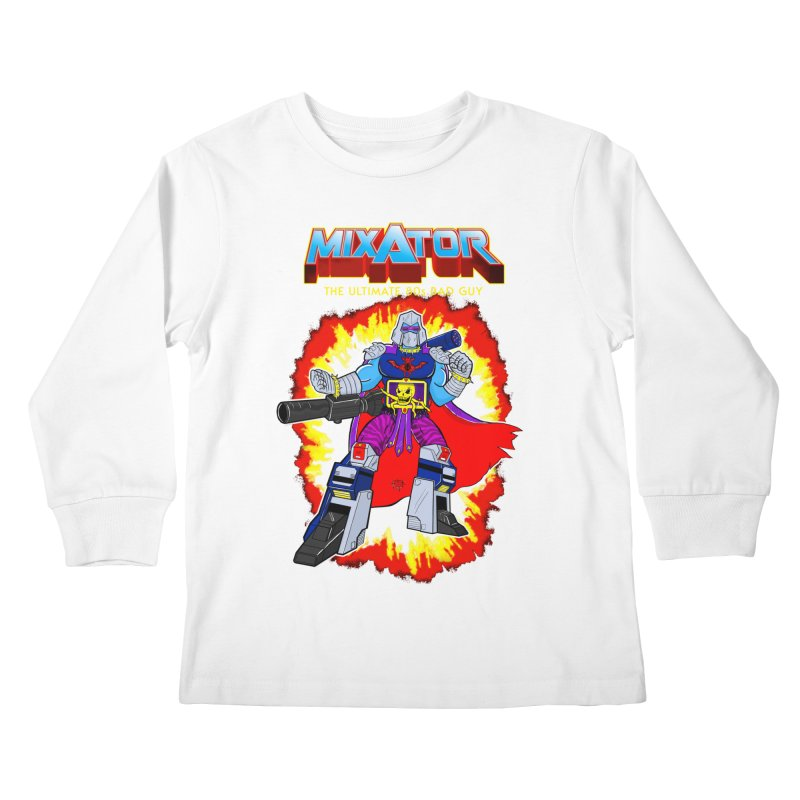 Mixator - The Ultimate 80s Bad Guy Kids Longsleeve T-Shirt by John D-C