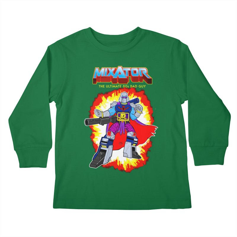 Mixator - The Ultimate 80s Bad Guy Kids Longsleeve T-Shirt by John D-C's Artist Shop
