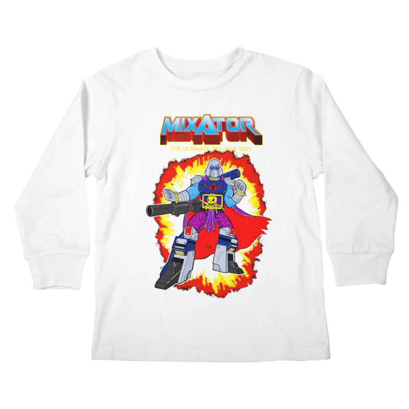 Mixator - The Ultimate 80s Bad Guy Kids Longsleeve T-Shirt by John D-C's Artist Shop