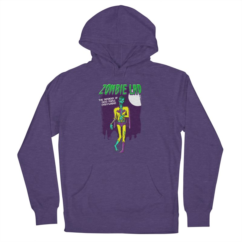 Zombie Lad in Men's French Terry Pullover Hoody Heather Purple by John D-C