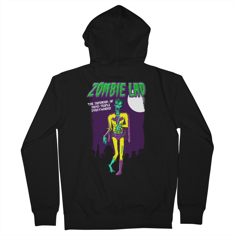 Zombie Lad Men's French Terry Zip-Up Hoody by John D-C's Artist Shop