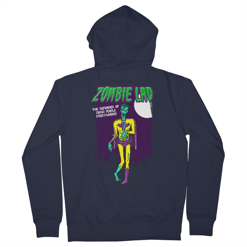 Zombie Lad Men's French Terry Zip-Up Hoody by John D-C's Artist Shop
