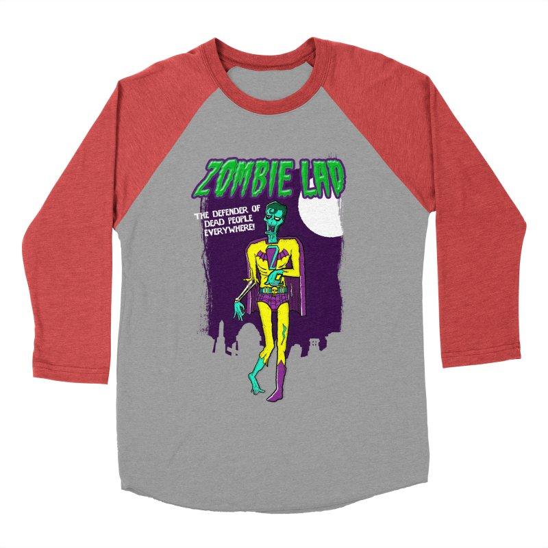 Zombie Lad Men's Baseball Triblend T-Shirt by John D-C's Artist Shop