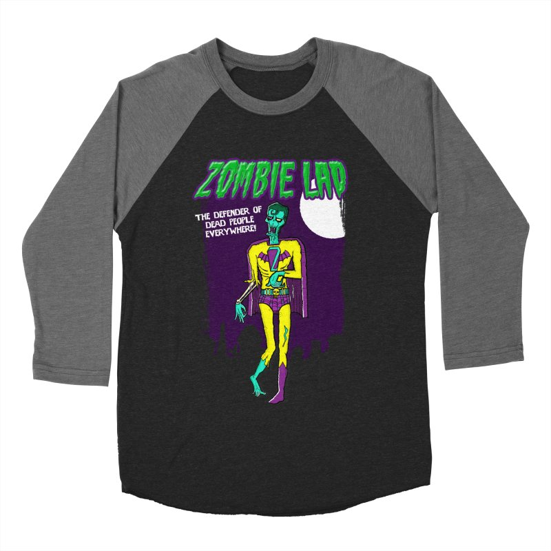 Zombie Lad Men's Baseball Triblend Longsleeve T-Shirt by John D-C