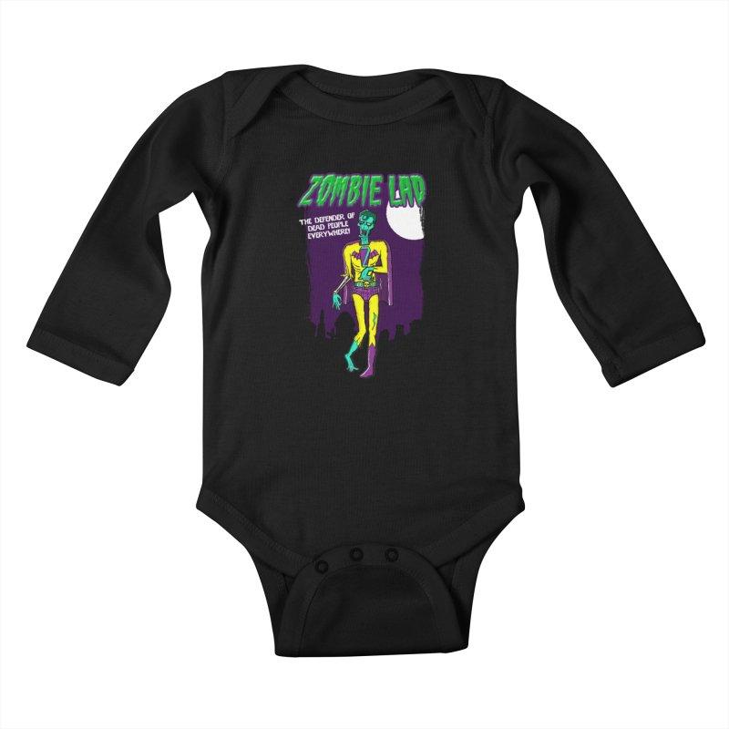 Zombie Lad Kids Baby Longsleeve Bodysuit by John D-C