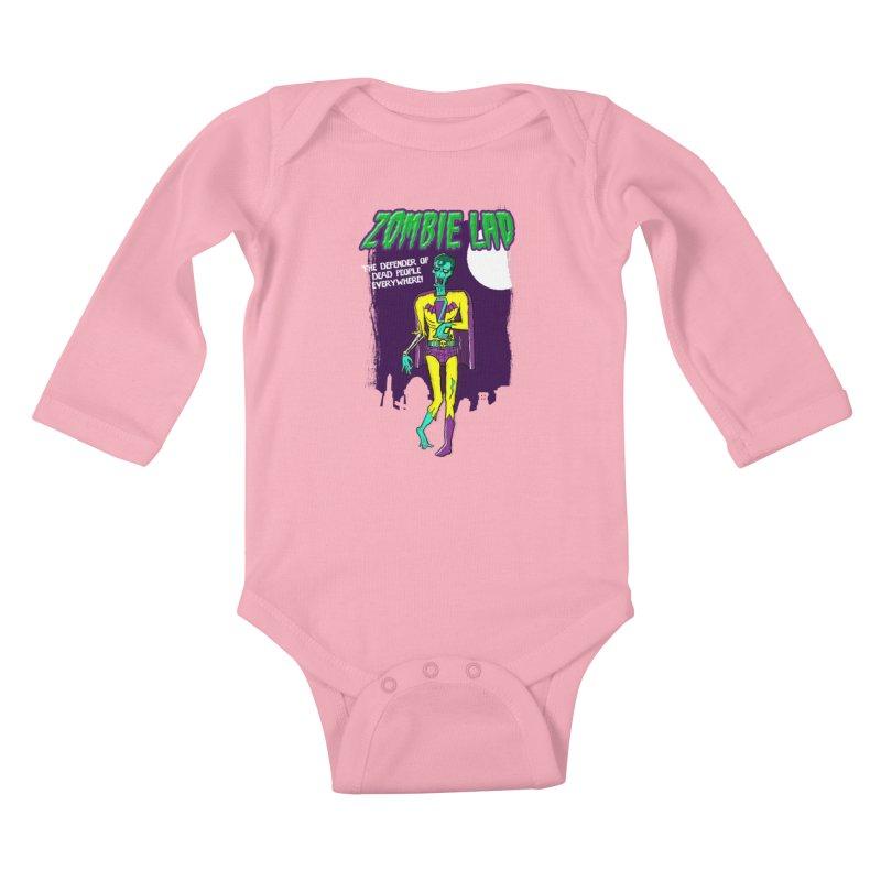 Zombie Lad Kids Baby Longsleeve Bodysuit by John D-C's Artist Shop
