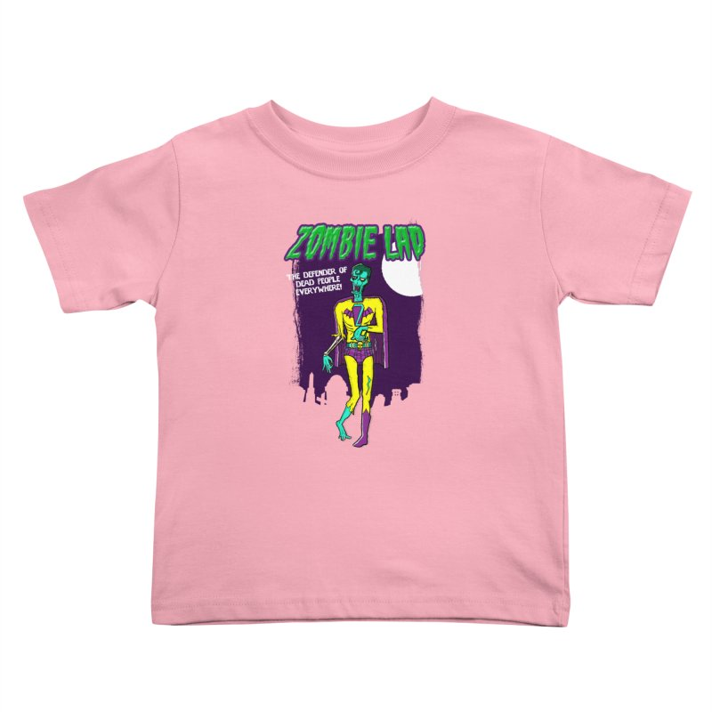 Zombie Lad Kids Toddler T-Shirt by John D-C's Artist Shop
