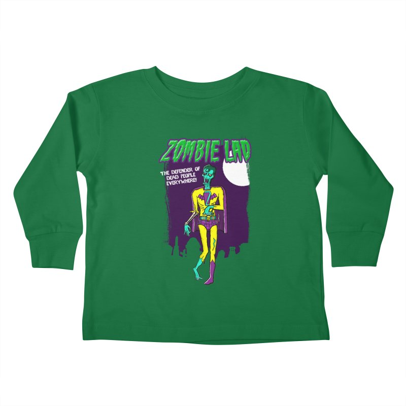Zombie Lad Kids Toddler Longsleeve T-Shirt by John D-C's Artist Shop