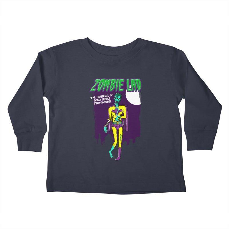 Zombie Lad Kids Toddler Longsleeve T-Shirt by John D-C