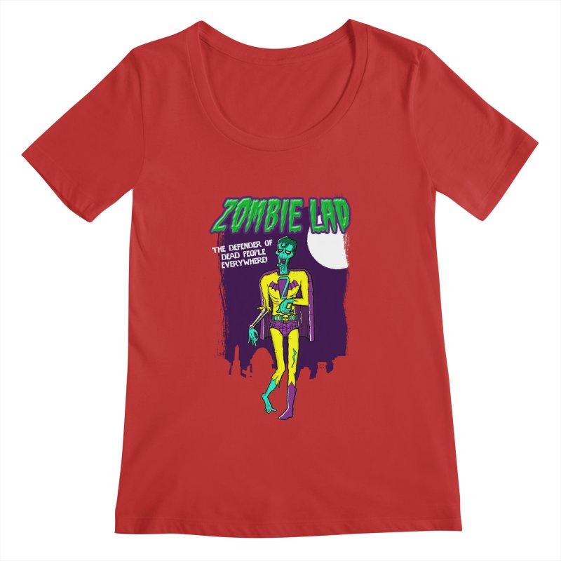 Zombie Lad Women's Regular Scoop Neck by John D-C's Artist Shop