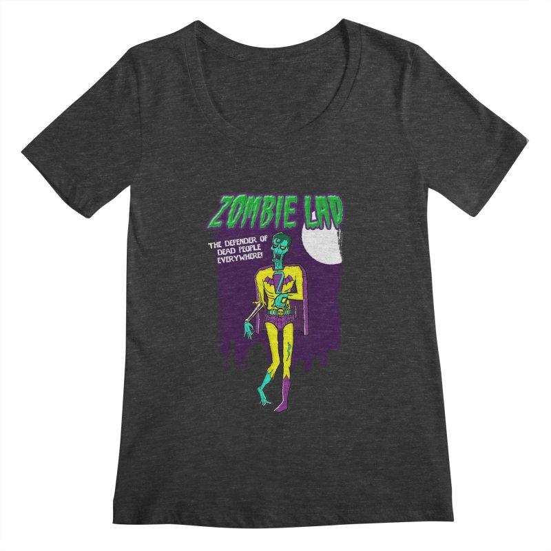 Zombie Lad Women's Scoopneck by John D-C's Artist Shop