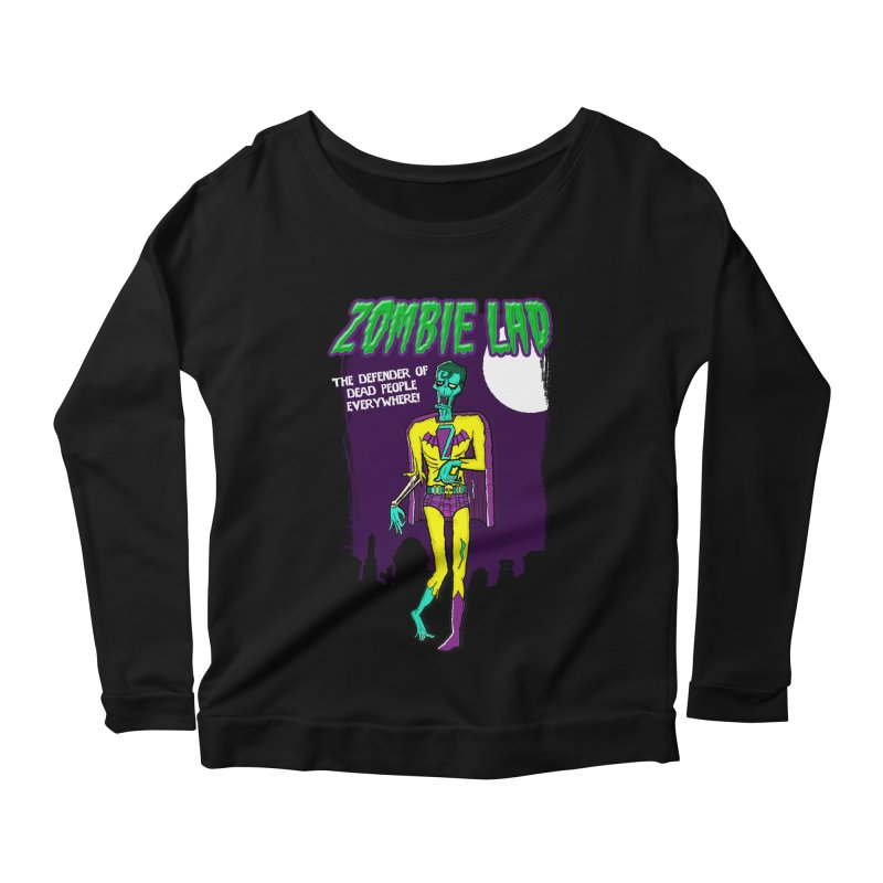 Zombie Lad Women's Scoop Neck Longsleeve T-Shirt by John D-C's Artist Shop