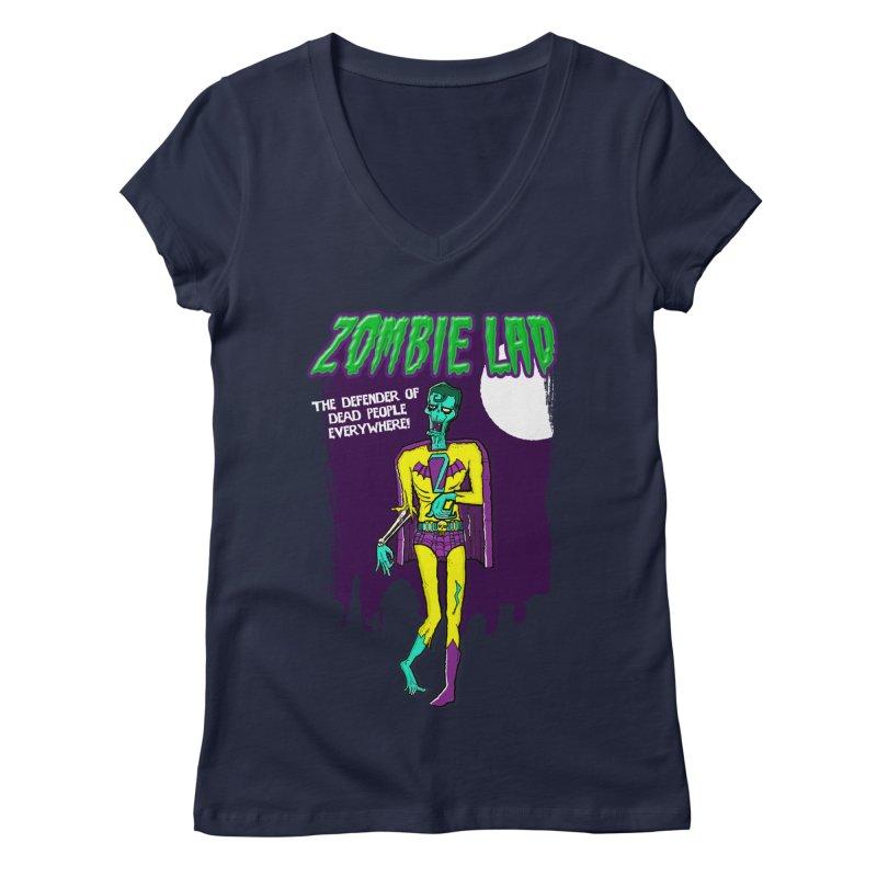 Zombie Lad Women's V-Neck by John D-C's Artist Shop