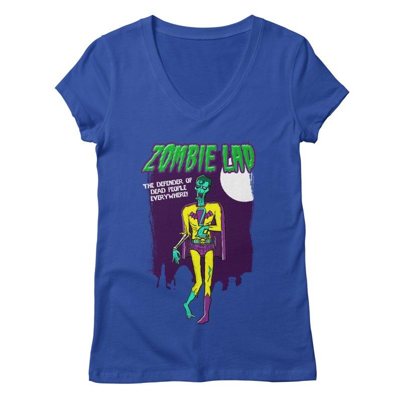 Zombie Lad Women's Regular V-Neck by John D-C