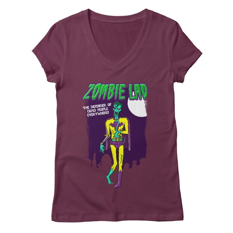 Zombie Lad Women's V-Neck by John D-C's Artist Shop