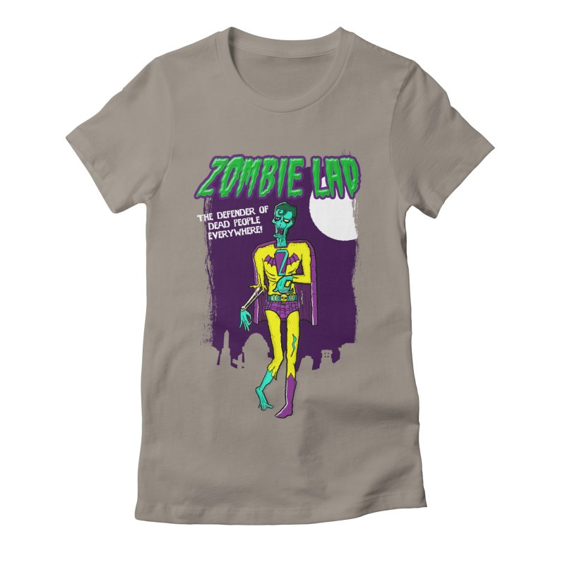 Zombie Lad Women's Fitted T-Shirt by John D-C